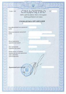 Регистрация общественной организации Киев