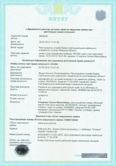 Регистрация прав на землю